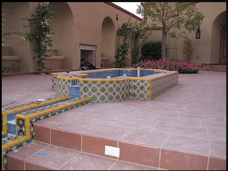 Mexican Tile Decorating A Wading Fountain Mexican Home