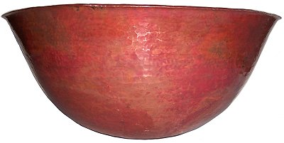 Natural Hammered Round Bathroom Copper Vessel Close-Up