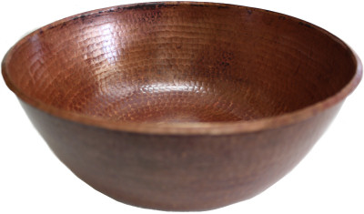 Natural Hammered Round Bathroom Copper Vessel II