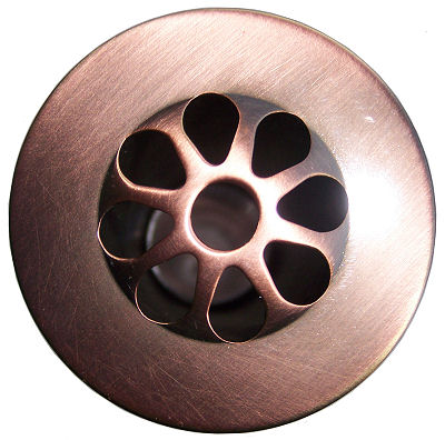Polished Copper Bathroom Sink Drain MT749 ACP Close-Up