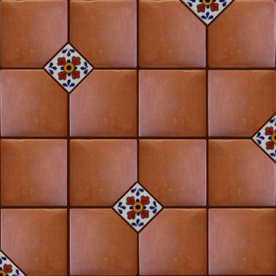 Square 16 Clay Lincoln Tile Close-Up