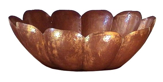 Folk Art Small Fruit Copper Bowl