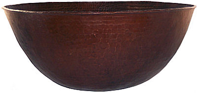 Weathered Hammered Copper Bowl