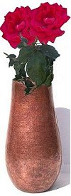 Arts & Crafts Tall Hammered Copper Vase