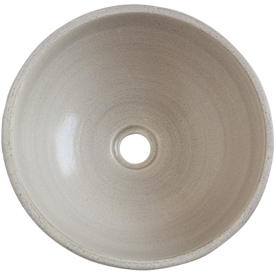 Pergamino Fango Ceramic Vessel Sink Close-Up