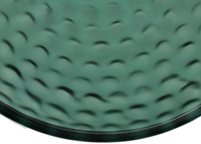 Above Counter Glass Vessel Basin - Clear Green Close-Up