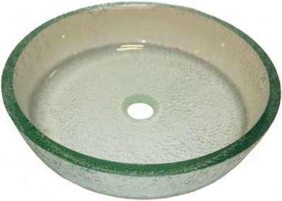 Above Counter Glass Vessel Basin - Frosted