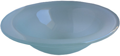 Above Counter Glass Vessel Basin - Frosted Green