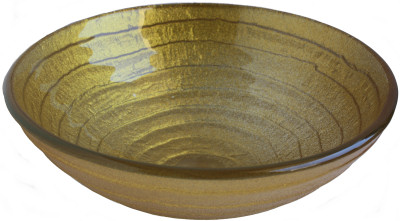 Above Counter Glass Vessel Basin - Golden