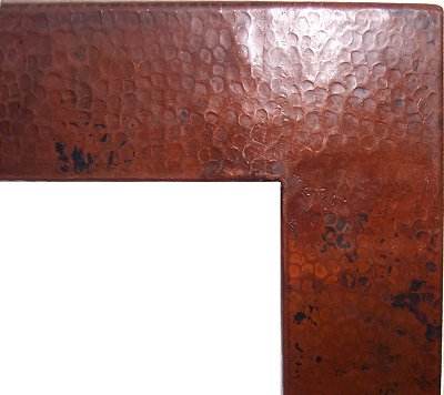 Big Hammered Copper Mirror Close-Up