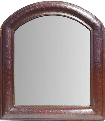 Imperial II Hammered Arched Copper Mirror