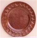 Sun Hammered Copper Plate