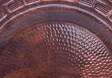 Merida Hammered Copper Plate Close-Up