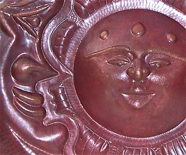 Eclipse Hammered Natural Copper Sunface Close-Up