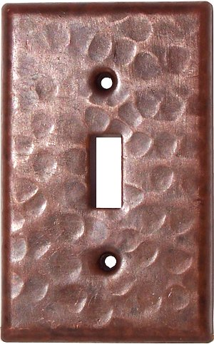 Single Toggle Hammered Copper Switch Plate