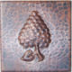 Grapes Hammered Copper Tile
