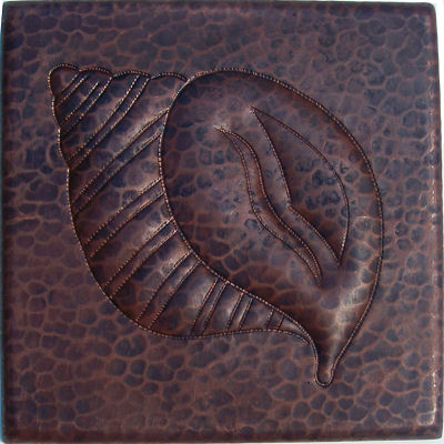 Snail III Hammered Copper Tile