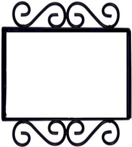 Wrought Iron House Number Frame Colonial 2