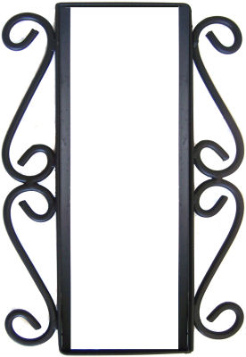 Wrought Iron Vertical House Number Frame Desert 2