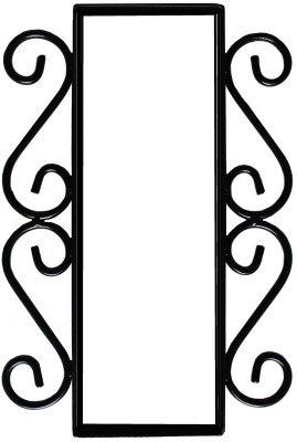 Wrought Iron House Number Vertical Frame Mission 2