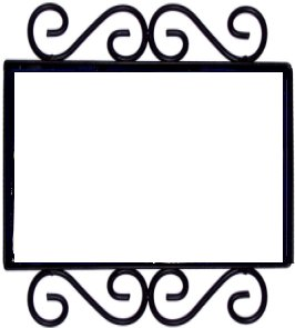 Wrought Iron House Number Frame Hacienda 2