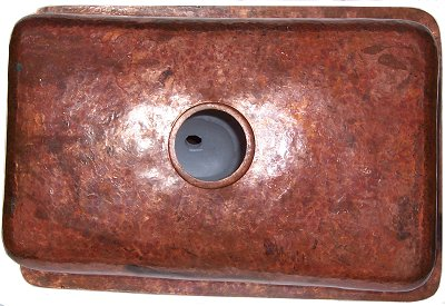 Natural Color Bottom-Rounded Hammered Copper Kitchen Sink Details