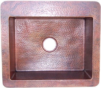 Hammered Copper Kitchen Sink III
