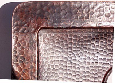 Hammered Copper Kitchen Sink Close-Up