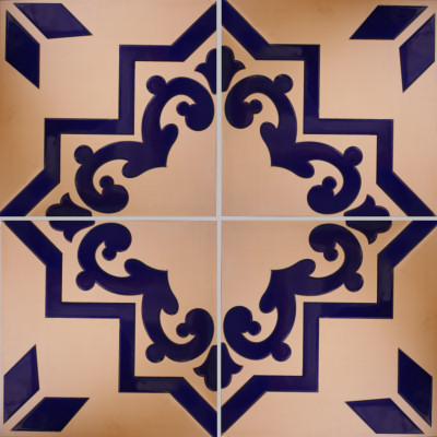 Blue Carpeta Floor Tile Close-Up