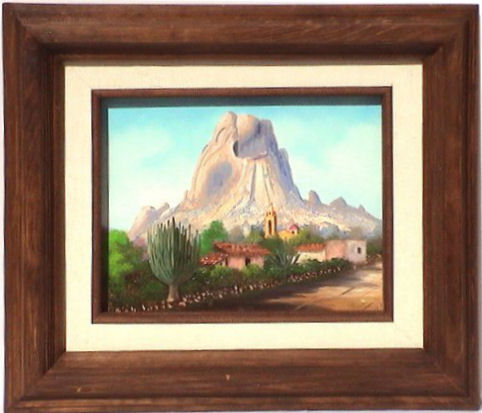 Bernal Rock, Qro. M?xico. Mexican Contemporary Oil Painting