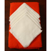 Round Orange Mexican Tablecloth 6 Napkins