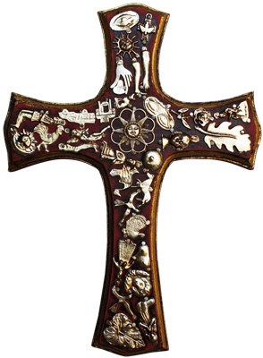 Sabino Milagros Mexican Wooden Cross