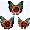 Sunflower Talavera Ceramic Butterfly Set (3)