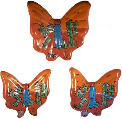 Desert Talavera Ceramic Butterfly Set (3)