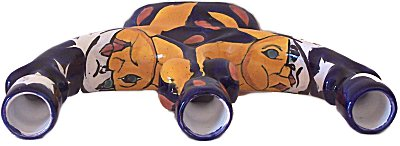 Eclipse Talavera Ceramic Candle Holder Details
