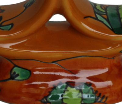 Desert Talavera Ceramic Candle Holder Close-Up