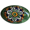 Oval Green Peacock Talavera Ceramic Drawer Knob