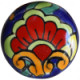 Round Rainbow Talavera Ceramic Drawer Knob