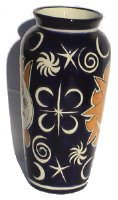 Sun and Moon Talavera Tall Flower Vase Details