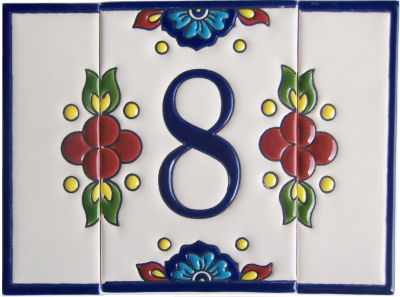 Mission Tile Number Eight Close-Up