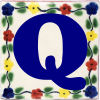 Bouquet Talavera Clay House Letter Q