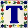 Bouquet Talavera Clay House Letter T