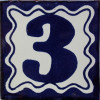 Blue Talavera Tile Number Three