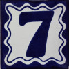 Blue Talavera Tile Number Seven