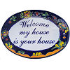 Fish Talavera Ceramic House Plaque. Welcome my house is your house
