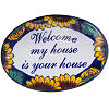 Sunflower Talavera Ceramic House Plaque. Welcome my house is your house