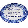 Traditional Talavera Ceramic House Plaque. Welcome my house is your house