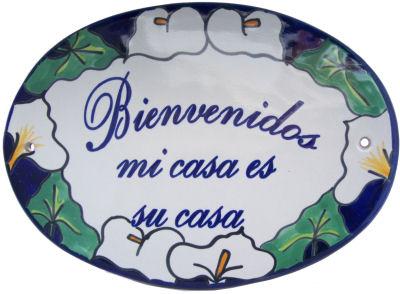 Talavera Bienvenido Plate