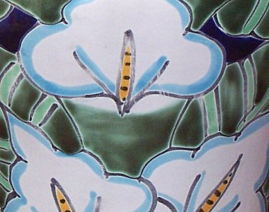 Lily Talavera Ceramic Lamp Close-Up
