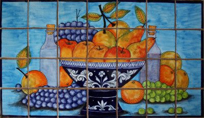Spring Harvest. Clay Talavera Tile Mural